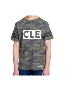 Toddler / Youth Camo CLE tee