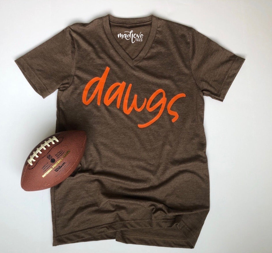 Dawgs V Neck tee