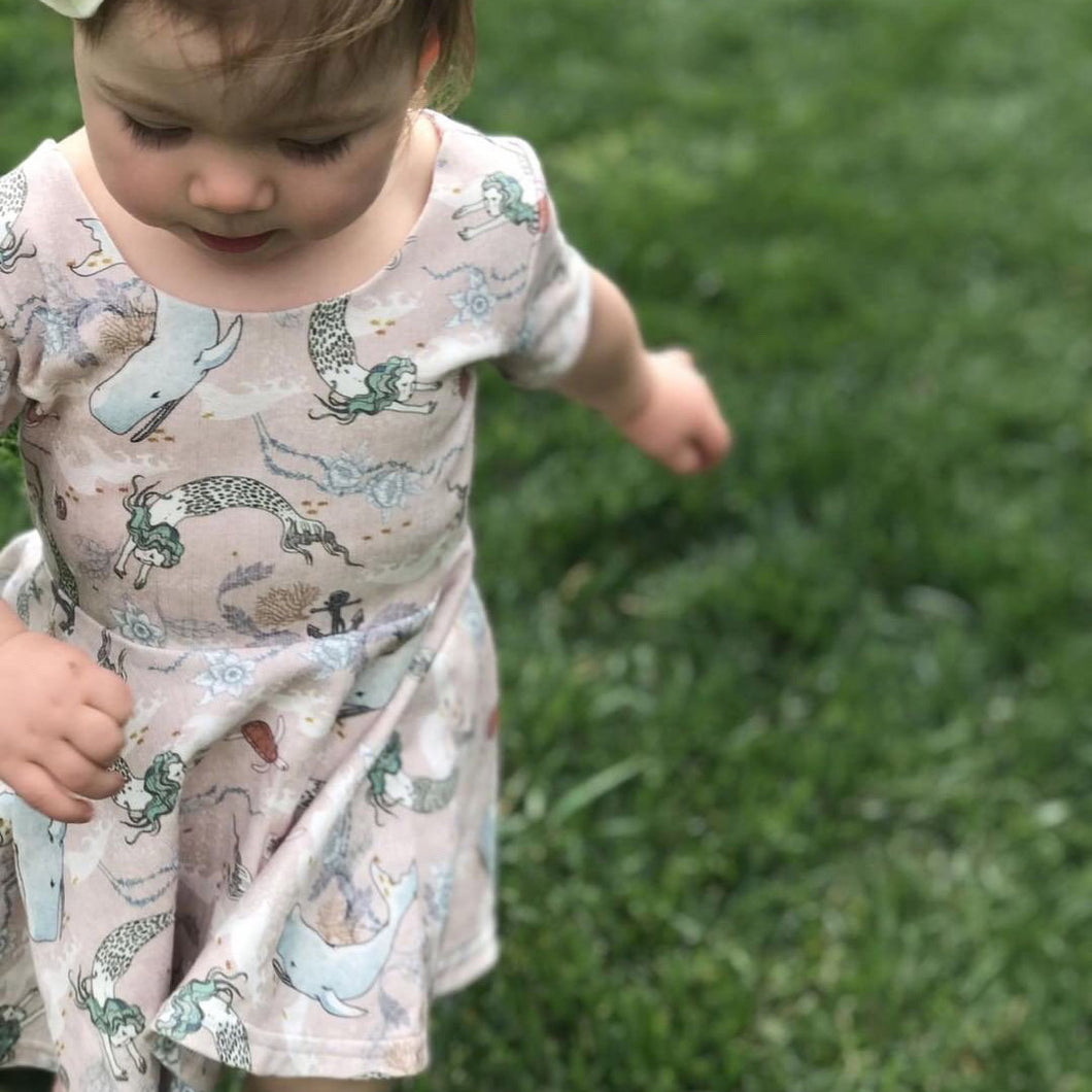 Mermaid Games Dress on toddler