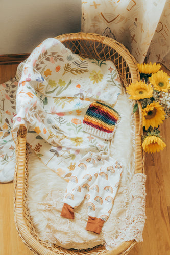 Wildflowers Organic Muslin Swaddle
