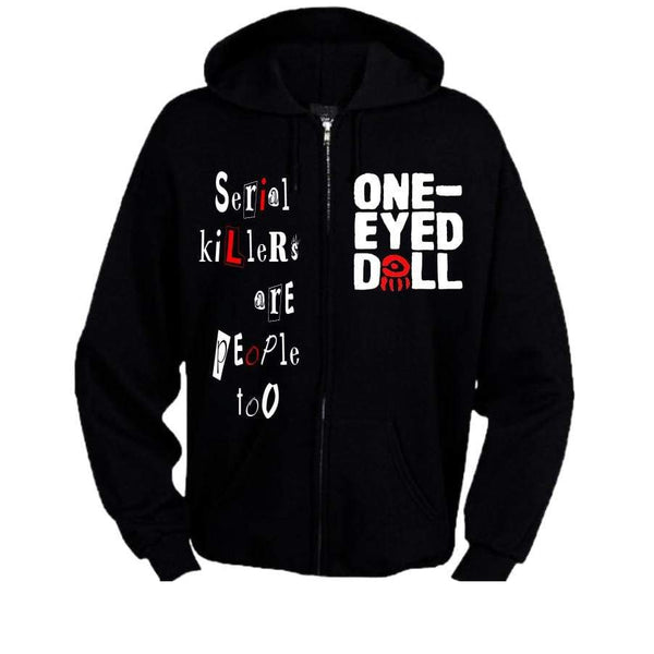 Be My Friend Zipper Hoodie - Hoodie Be My Friend Hoodie Kimberly Freeman Sale Zip One-Eyed Doll