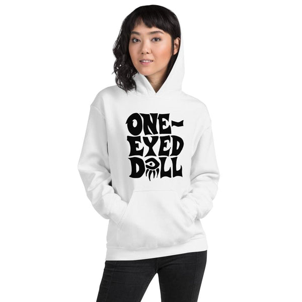 Black Logo Hoodie - Choose your color - White / S - winter One-Eyed Doll