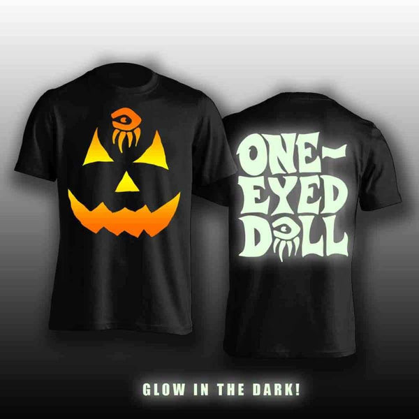 Glow In The Dark Limited Pumpkin Shirt - Unisex And Ladies - Shirt 50Offsale Autograph Care Hang Dry Halloween Halloween Hq One-Eyed Doll