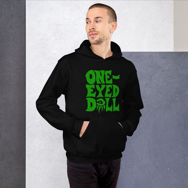 Green Logo Hoodie - Choose your color - Black / S - winter One-Eyed Doll