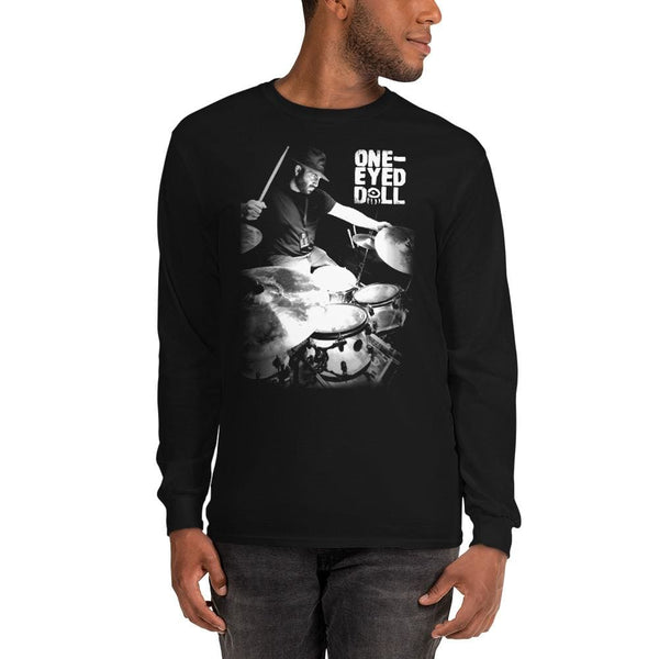 Junior the Drummer Long Sleeve T-Shirt - Black / S - winter One-Eyed Doll