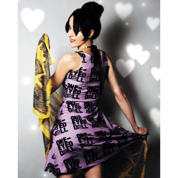 Limited Purple Logo Dress (Up To 3X) - Dress 2X 3X Dress Hq Kimberly Freeman One-Eyed Doll