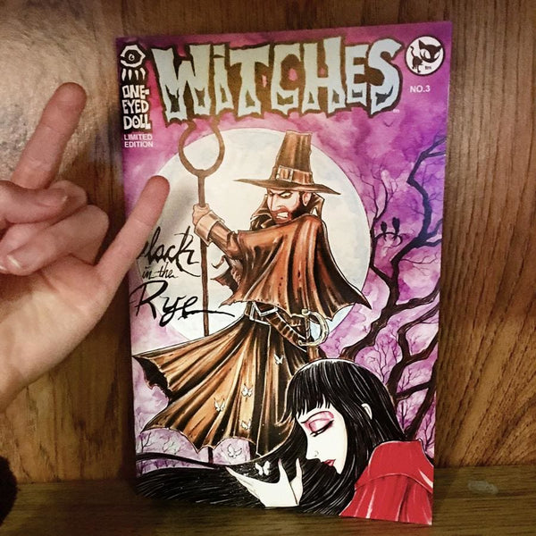 Lyric Comic Book - Witches: Black In The Rye Cover - Signed Limited Edition Of 100 - Book Featured Kimberly Freeman Signed One-Eyed Doll