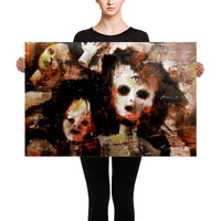 Premium Wrapped Canvas Art Print: Holier Painting By Wiley Ross - 24×36 - Art Dropshipped Holier New One-Eyed Doll