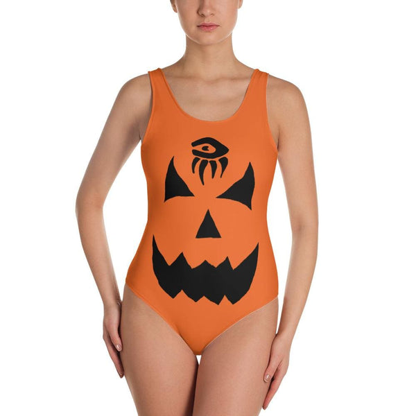469437c537e34 Pumpkin One-Piece Swimsuit - Orange - XS - DROPSHIPPED halloween HALLOWEEN  DROPSHIPPED ladies new