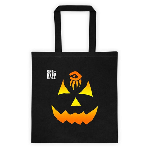 Pumpkin Trick Or Treat Canvas Tote Bag - Bag Bag Dropshipped Halloween New Pumpkin One-Eyed Doll