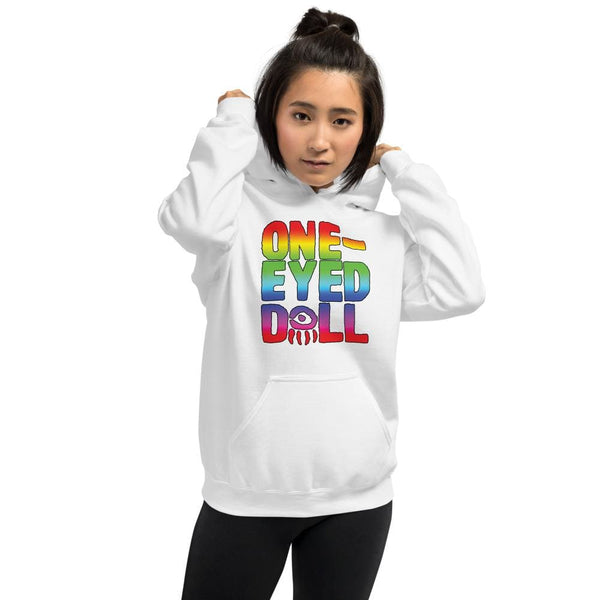 Rainbow Logo Hoodie - Choose your color - White / S - WINTER One-Eyed Doll