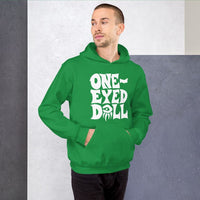 White Logo Hoodie - Choose your color - Irish Green / S - WINTER One-Eyed Doll