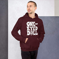 White Logo Hoodie - Choose your color - Maroon / S - WINTER One-Eyed Doll