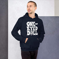 White Logo Hoodie - Choose your color - Navy / S - WINTER One-Eyed Doll