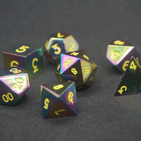 Rainbow Metal Dice Set (Limited Edition)