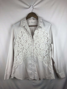 Lace Lay Button Up Blouse -Size: X-Large