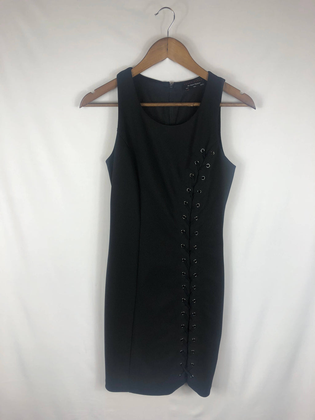 Little Black Dress W/ Lace Up Detailing - Size: Small