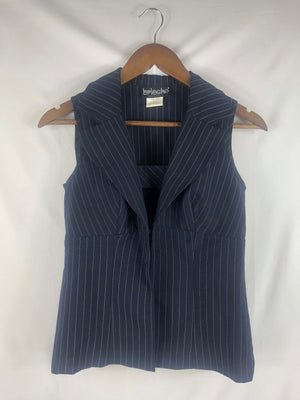 Navy Pinstripe Set -Size: Vintage 3/4 *Modern Best Fits: Small