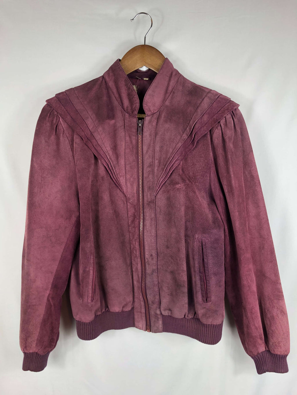 Dramatic Shoulder Soft Leather Jacket- Size: Vintage 8 *Modern Best Fits: Small