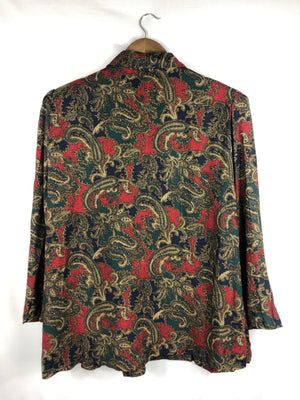Dark Multi Paisley Cloth Blazer- Size: 22