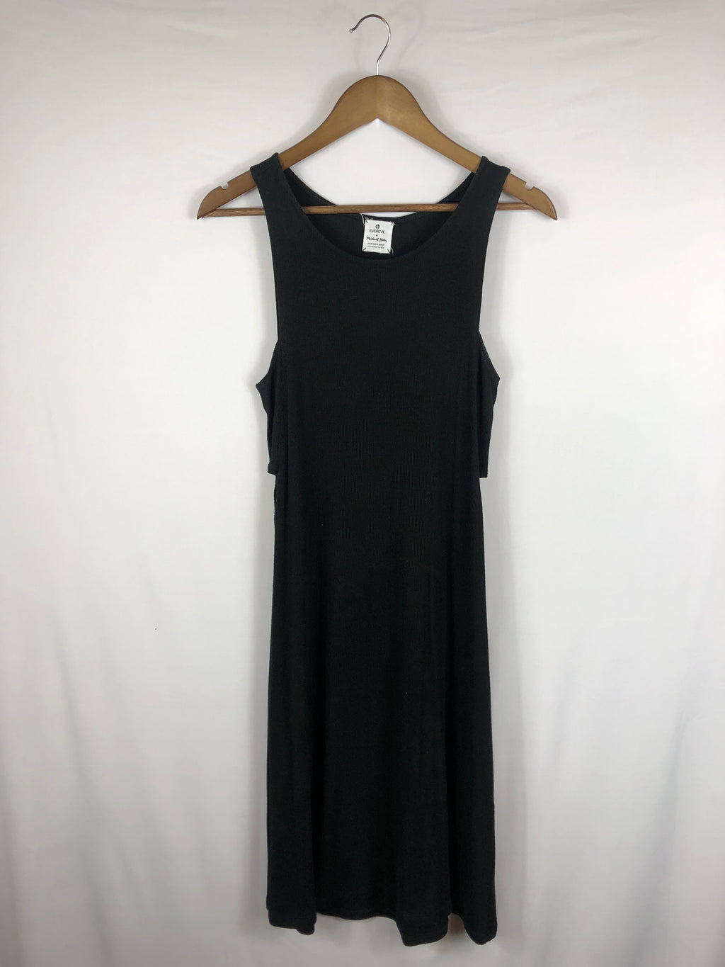 Everday Black Dress W/ Side Cutouts- Size: Small