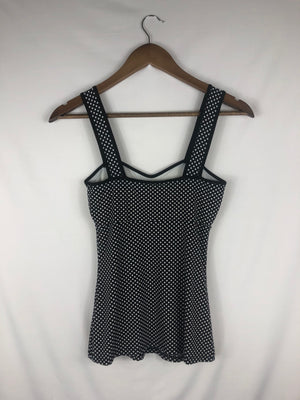 Black & White Polka Dotted Tank Size: X-Small