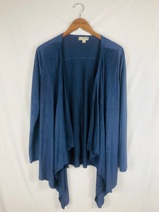 Incredibly Soft Slate Open Cardigan Size: Medium