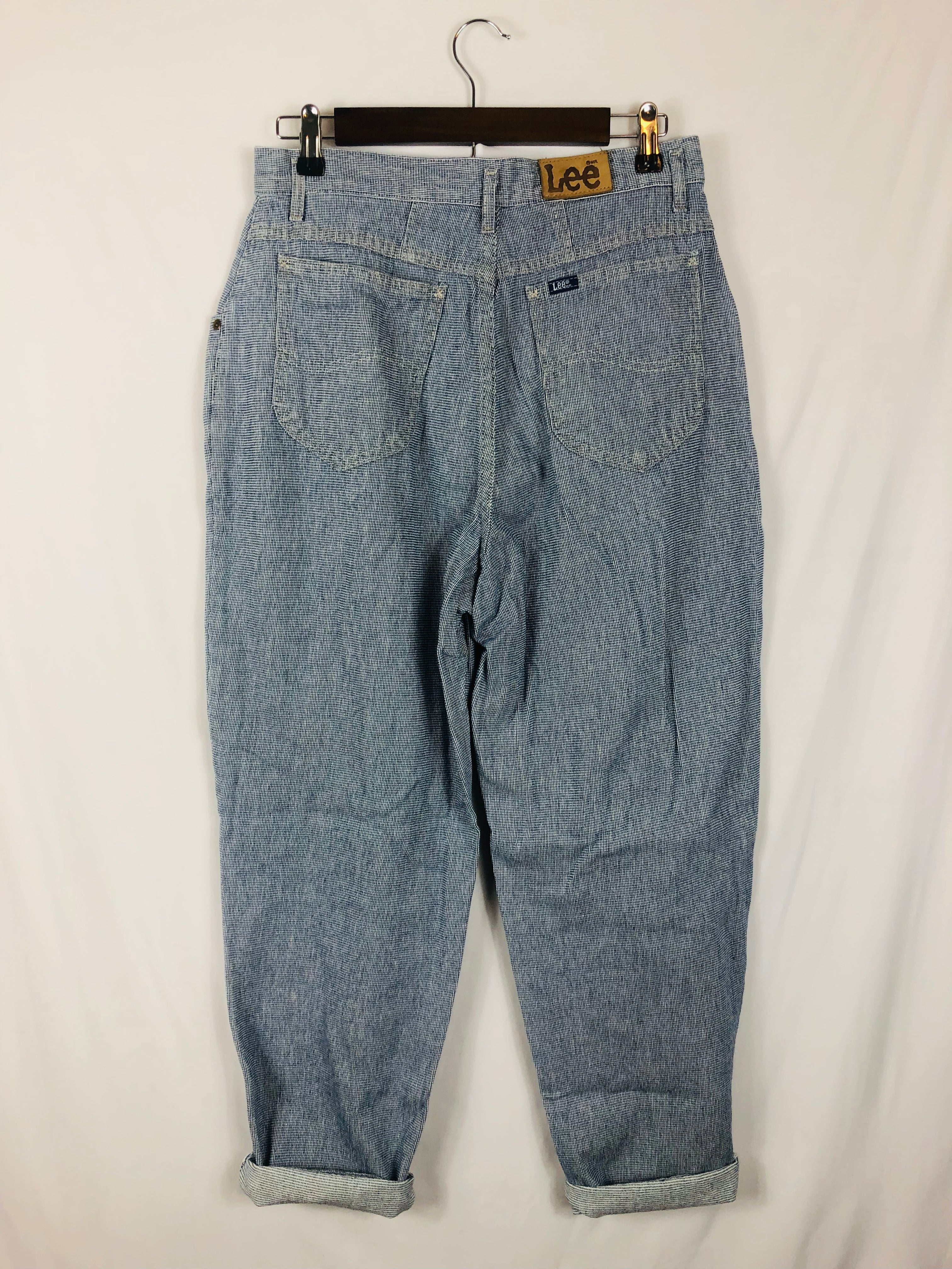 Railroad Blue Denim Lee Mom Jean Size: Vintage 14 *Modern Best Fits: 10