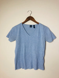 Baby Blue Classic Knit-Size: Med, Best fits S/M