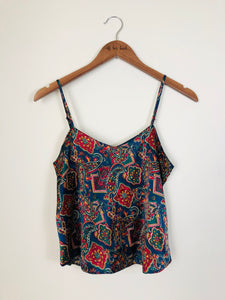 Pretty In Paisley Silk Tank-Size:Large