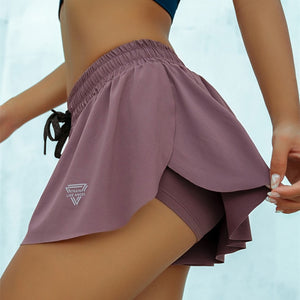 2-in-1 Flowy Fitness Shorts