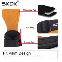 Load image into Gallery viewer, SKDK Cowhide Grip Straps