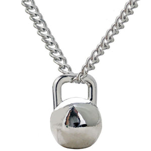 Kettlebell Pendant Necklace