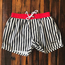 Load image into Gallery viewer, Striped Swim Trunks