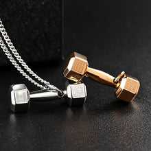 Load image into Gallery viewer, Dumbbell Pendant Necklace