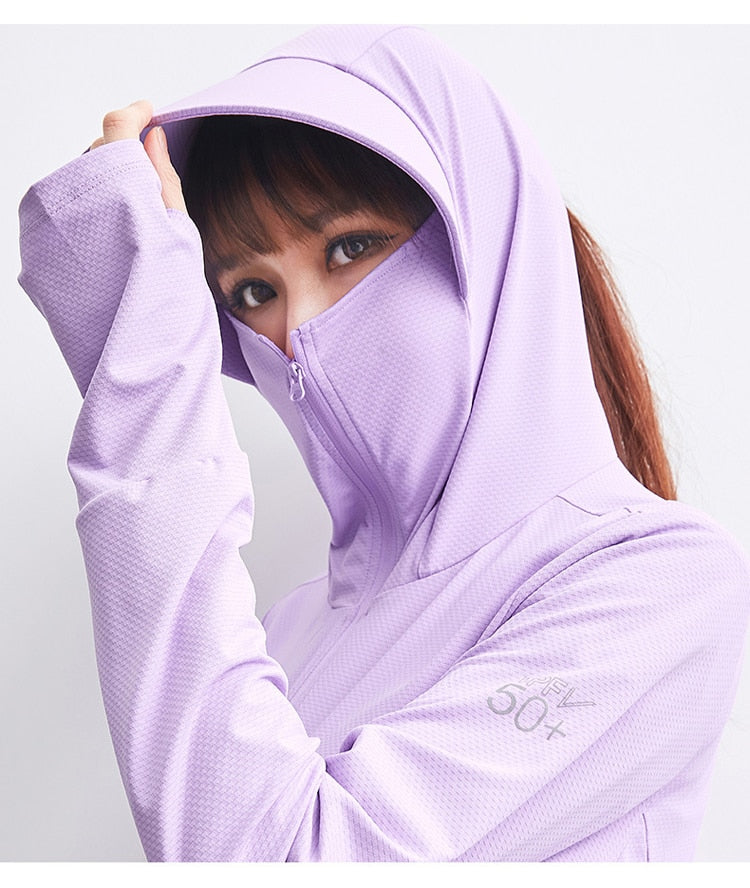 Masked Hoodie with Sun Protection
