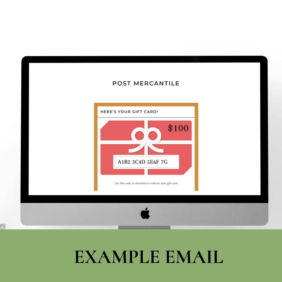Email a Gift Card (In their inbox in seconds!)