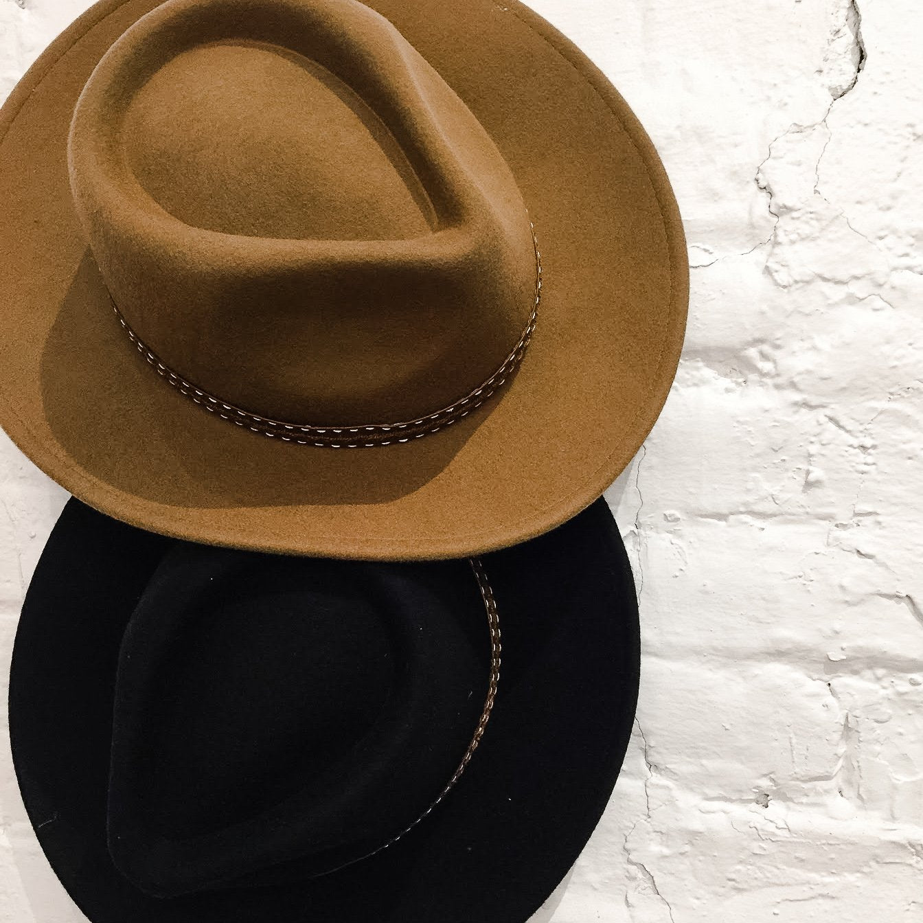 Black and Brown Fedoras