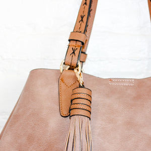 Neutral Brown Bag with Tassel