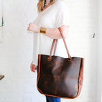 Dark Brown Leather Tote