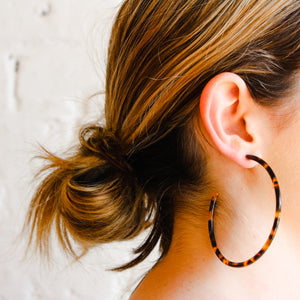 Large Tortoise Shell Hoops