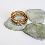 Mixed Metals Stackable Tennessee Ring