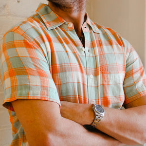 lightweight summer mens button down shirt