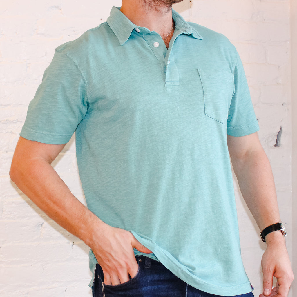 Light blue cotton polo