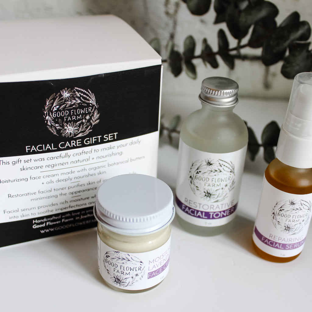 local, organic, everyday facial gift set