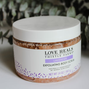 local, natural, lavender exfoliating body scrub