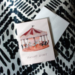 Vintage Carousel Birthday Wishes Card