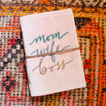 Mom Wife Boss Velvet Journal