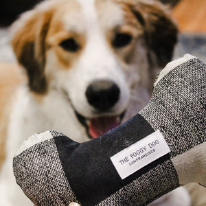 Fabric Dog Toy Bone