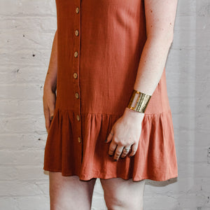 short coral summer dress